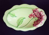 Superb Vintage Carlton Ware Pink 'Hydrangea' Footed Dish or Comport